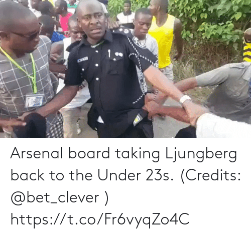 Arsenal, Memes, and Back: Arsenal board taking Ljungberg back to the Under 23s. (Credits: @bet_clever )  https://t.co/Fr6vyqZo4C