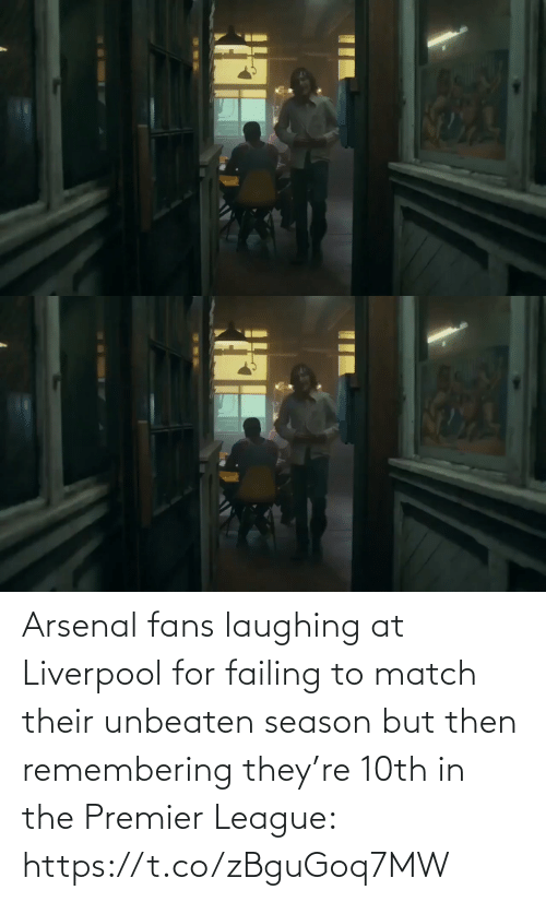 But Then: Arsenal fans laughing at Liverpool for failing to match their unbeaten season but then remembering they're 10th in the Premier League: https://t.co/zBguGoq7MW
