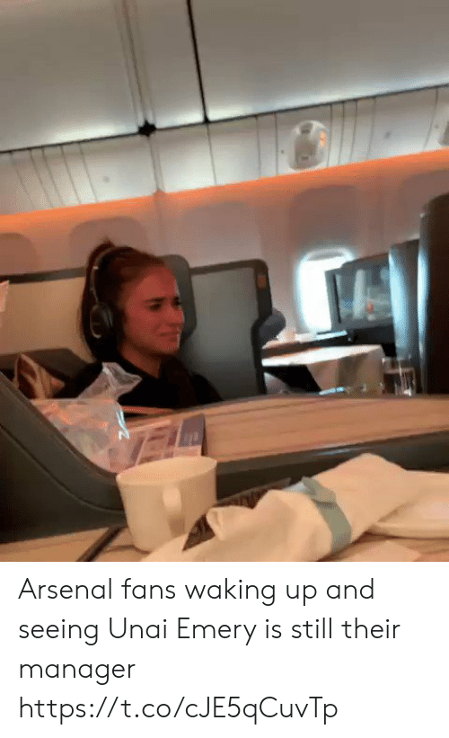 Arsenal, Memes, and 🤖: Arsenal fans waking up and seeing Unai Emery is still their manager  https://t.co/cJE5qCuvTp