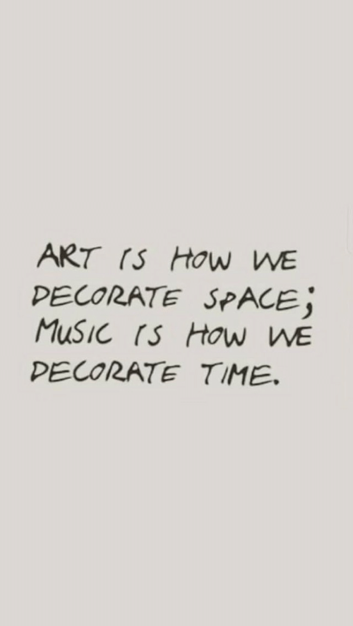 Space, Time, and How: ART (S HOw WE  PECORATE SPACE;  PECORATE TIME.