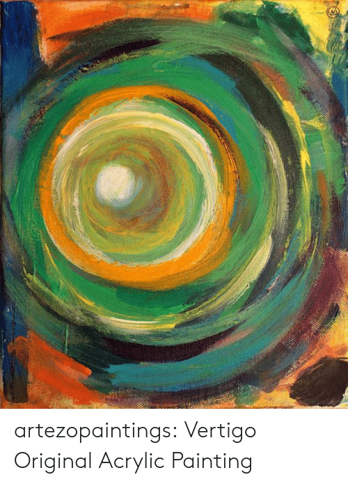 Tumblr, Blog, and Etsy: artezopaintings:  Vertigo Original Acrylic Painting