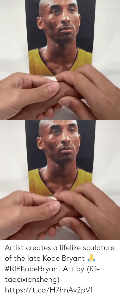 Kobe Bryant: Artist creates a lifelike sculpture of the late Kobe Bryant 🙏 #RIPKobeBryant Art by (IG-taocixiansheng) https://t.co/H7hnAv2pVf