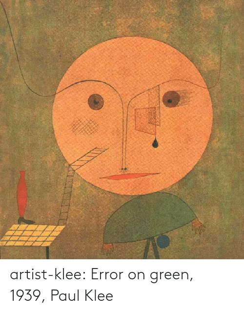 paul: artist-klee:  Error on green, 1939, Paul Klee