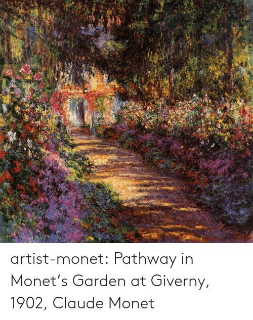 Strong: artist-monet:  Pathway in Monet's Garden at Giverny, 1902, Claude Monet
