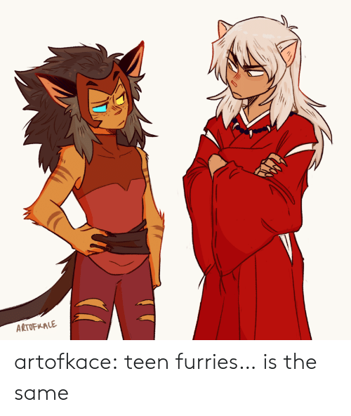 Target, Tumblr, and Blog: ARTOFKALE artofkace:  teen furries… is the same