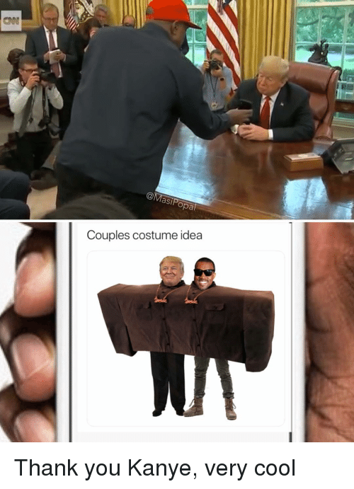 Funny, Kanye, and Thank You: asi  opal  Couples costume idea Thank you Kanye, very cool