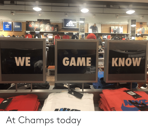 champs: At Champs today