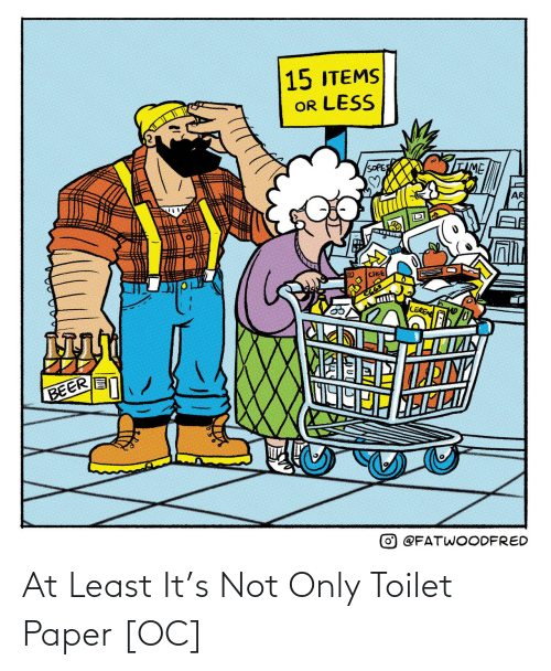 toilet: At Least It's Not Only Toilet Paper [OC]