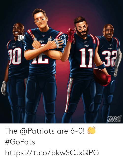 Memes, Nfl, and Patriotic: ATEATS  PATRIOTS  11 32  PAUAOTS  NFL The @Patriots are 6-0! 👏 #GoPats https://t.co/bkwSCJxQPG
