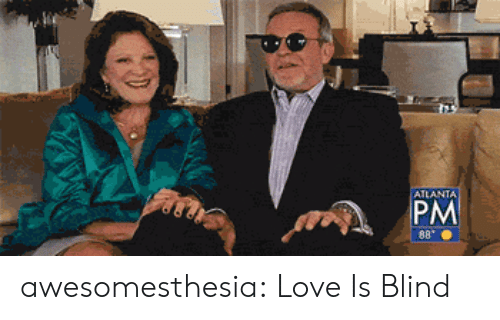 Love, Tumblr, and Blog: ATLANTA  PM  8 awesomesthesia:  Love Is Blind