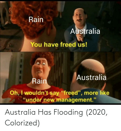 Has: Australia Has Flooding (2020, Colorized)