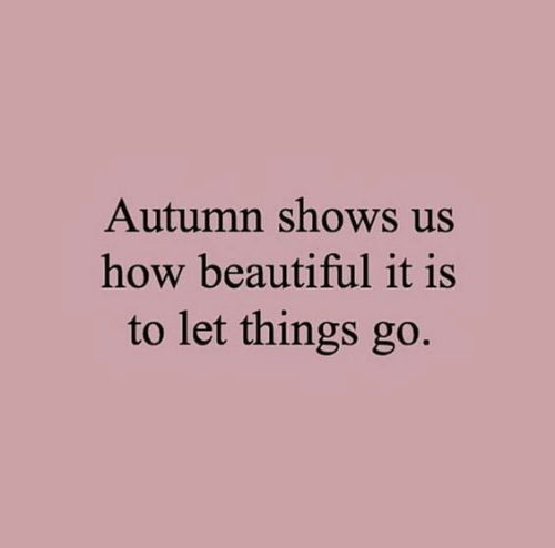 Beautiful, How, and Autumn: Autumn shows us  how beautiful it is  to let things go.
