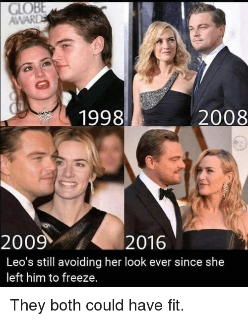 Leos: AWAR  1998  2008  20092016  Leo's still avoiding her look ever since she  left him to freeze. They both could have fit.