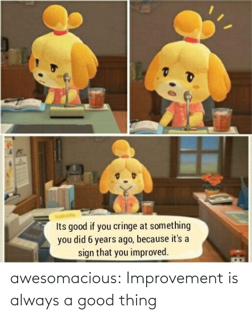 thing: awesomacious:  Improvement is always a good thing