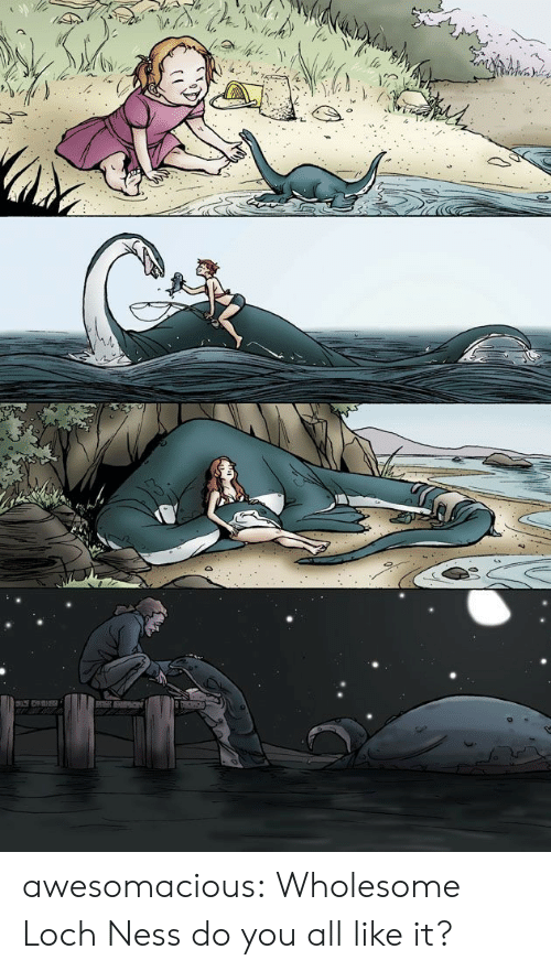Tumblr, Blog, and Wholesome: awesomacious:  Wholesome Loch Ness do you all like it?