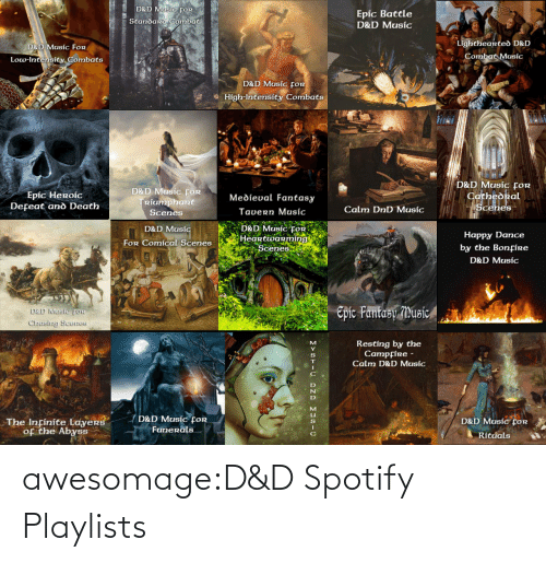 Spotify: awesomage:D&D Spotify Playlists