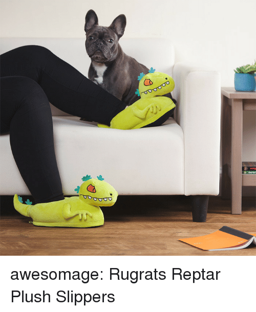 reptar: awesomage:  Rugrats Reptar Plush Slippers