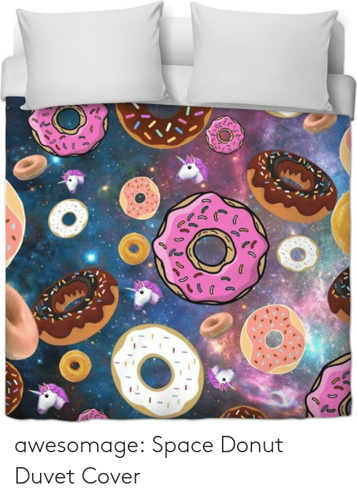 Cover: awesomage:  Space Donut Duvet Cover