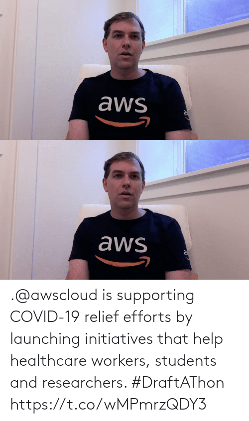 Workers: .@awscloud is supporting COVID-19 relief efforts by launching initiatives that help healthcare workers, students and researchers. #DraftAThon https://t.co/wMPmrzQDY3