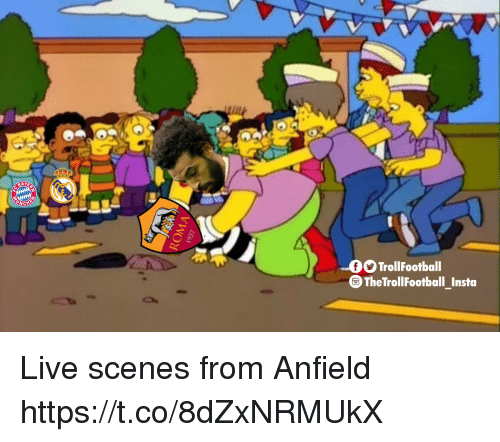 Memes, Live, and 🤖: AY  OTrollFootball  TheTrollFootball Insta Live scenes from Anfield https://t.co/8dZxNRMUkX