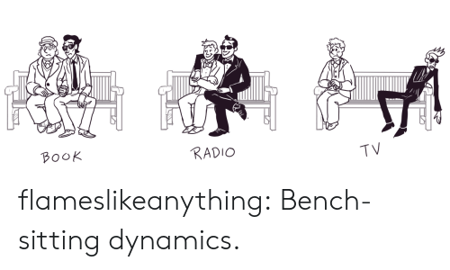 bench: B০০K  RADIO  TV flameslikeanything:  Bench-sitting dynamics.