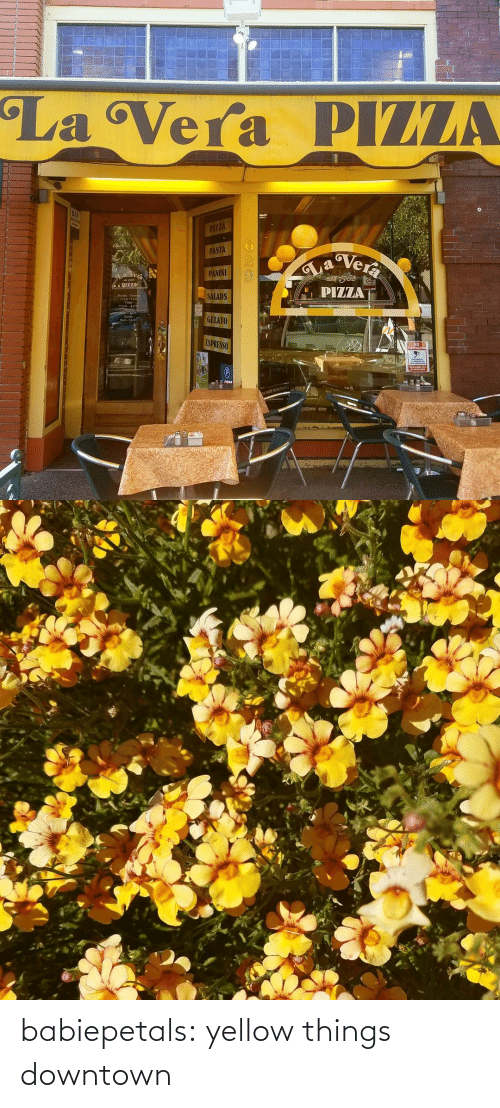 yellow: babiepetals:  yellow things downtown