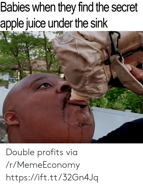 the secret: Babies when they find the secret  apple juice under the sink Double profits via /r/MemeEconomy https://ift.tt/32Gn4Jq