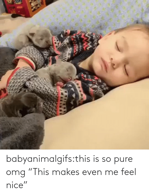 "pure: babyanimalgifs:this is so pure omg   ""This makes even me feel nice"""