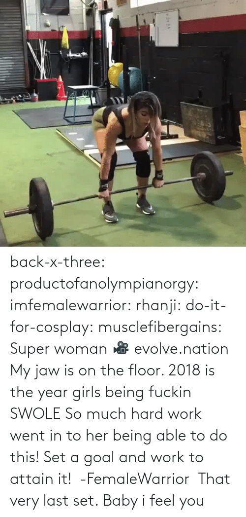 Cosplay: back-x-three:  productofanolympianorgy:  imfemalewarrior:  rhanji:  do-it-for-cosplay:  musclefibergains:   Super woman 🎥 evolve.nation  My jaw is on the floor.    2018 is the year girls being fuckin SWOLE   So much hard work went in to her being able to do this! Set a goal and work to attain it!  -FemaleWarrior      That very last set. Baby i feel you