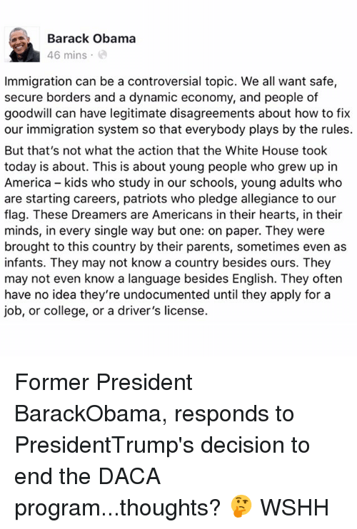 an essay on president barack obama and the broken immigration system of america Improve your reasearch with over 8 pages of premium content about barack obama s broken promise  by this narrative, the new president is.