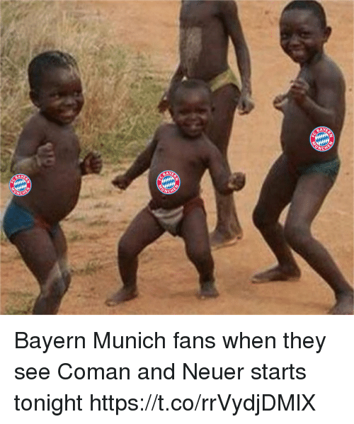 Memes, Bayern, and Bayern Munich: BAY  2  BAY  CHE Bayern Munich fans when they see Coman and Neuer starts tonight https://t.co/rrVydjDMlX