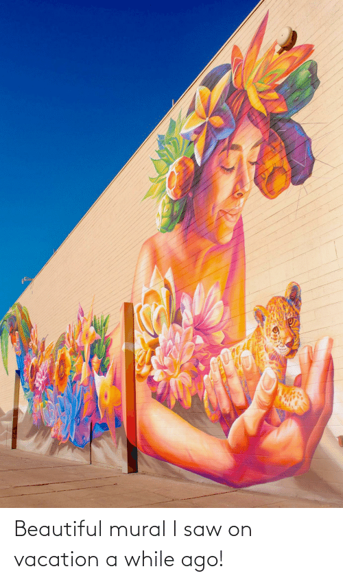 On Vacation: Beautiful mural I saw on vacation a while ago!