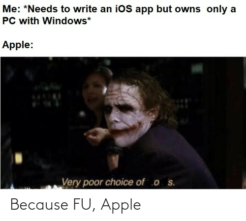 Apple: Because FU, Apple