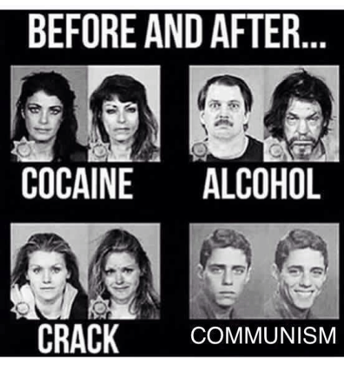 Cocaines: BEFORE AND AFTER  COCAINE  ALCOHOL  CRACK  COMMUNISM