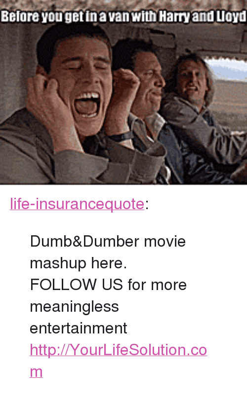 """Dumb, Life, and Tumblr: Before yougetinavan with Harry and Lloyd <p><a href=""""http://life-insurancequote.tumblr.com/post/147155639435/dumbdumber-movie-mashup-here-follow-us-for"""" class=""""tumblr_blog"""">life-insurancequote</a>:</p><blockquote> <p>Dumb&amp;Dumber movie mashup here. <br/></p> <p> FOLLOW US for more meaningless entertainment <a href=""""http://YourLifeSolution.com"""">http://YourLifeSolution.com</a><br/></p> </blockquote>"""