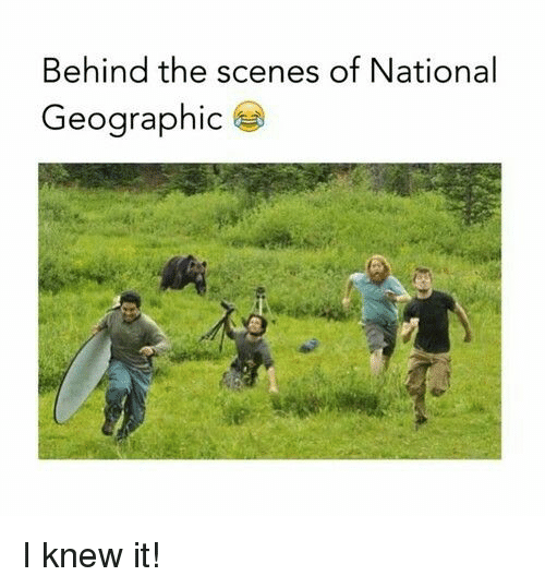 National Geographic, Knew, and Scenes: Behind the scenes of National  Geographic I knew it!