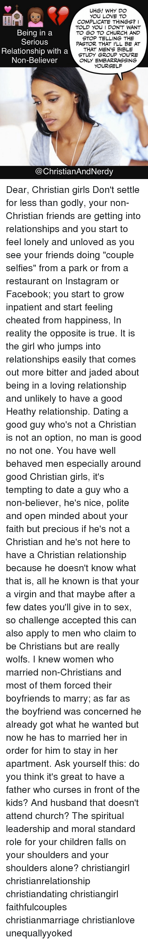 Dating a non christian girl reddit
