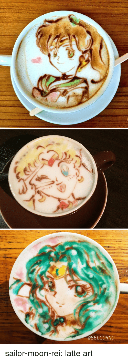 Sailor Moon, Target, and Tumblr: @BELCORNO sailor-moon-rei:  latte art