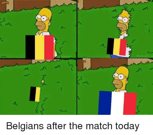 Dank, Match, and Today: Belgians after the match today