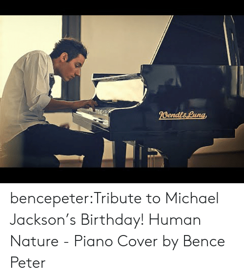 Cover: bencepeter:Tribute to Michael Jackson's Birthday! Human Nature - Piano Cover by Bence Peter