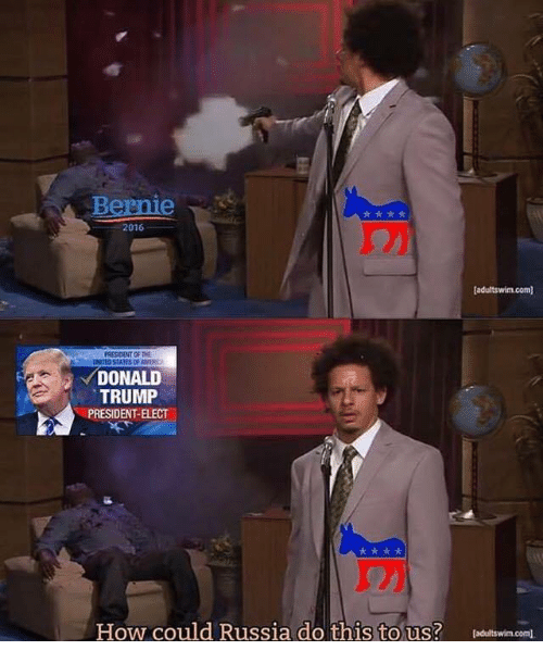 The Donald: Bernie  2016  PRESIDENT OF THE  DONALD  TRUMP  PRESIDENT-ELECT  How could Russia do this to us? Daeltswim.com).