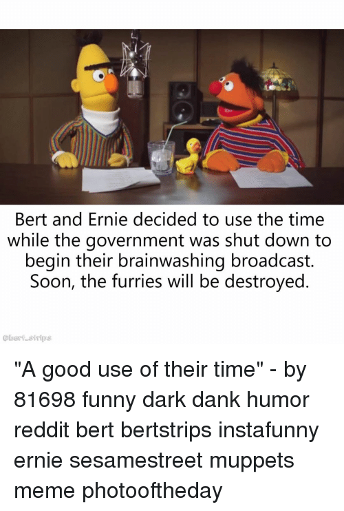 Bert And Ernie Decided To Use The Time While The Government