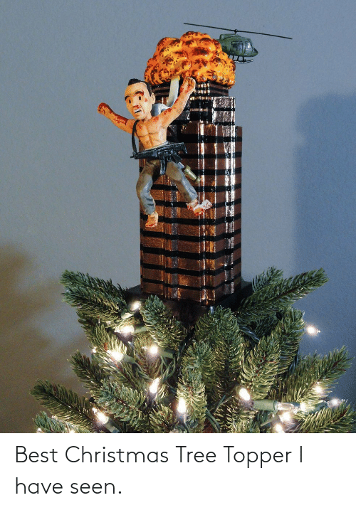Christmas Tree: Best Christmas Tree Topper I have seen.