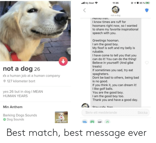 ever: Best match, best message ever