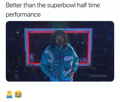 Basketball, Nba, and Sports: Better than the superbowl half time  performance  wwim  SPALDING  @nbamemes 🤷‍♂️😂