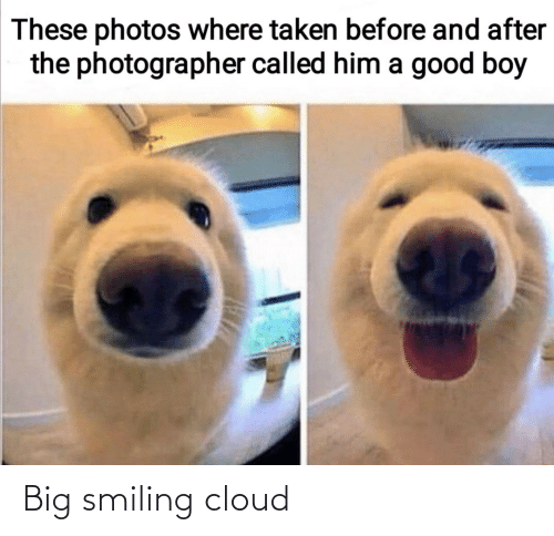 smiling: Big smiling cloud