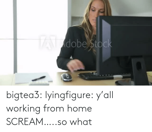 so what: bigtea3: lyingfigure: y'all working from home SCREAM…..so what