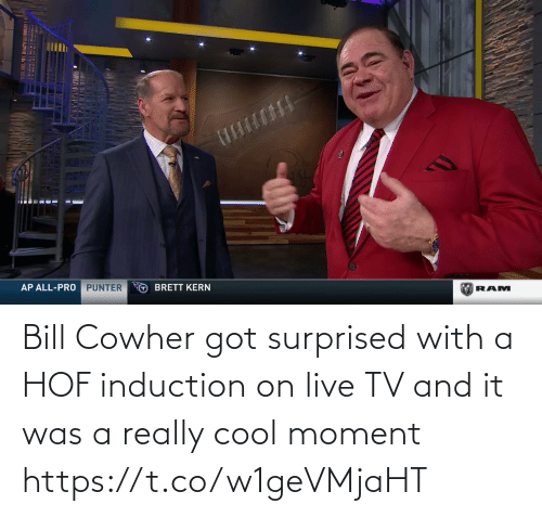 /tv/ : Bill Cowher got surprised with a HOF induction on live TV and it was a really cool moment   https://t.co/w1geVMjaHT