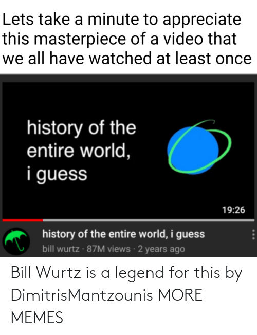 bill: Bill Wurtz is a legend for this by DimitrisMantzounis MORE MEMES