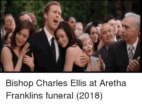 Aretha Franklin, Bishop, and Funeral: Bishop Charles Ellis at Aretha Franklins funeral (2018)